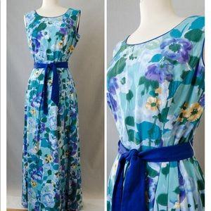 Vintage watercolor Honolu maxi dress